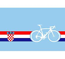 Bike Stripes Croatia Photographic Print