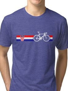 Bike Stripes Croatia Tri-blend T-Shirt