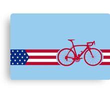 Bike Stripes USA v2 Canvas Print