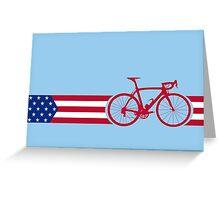 Bike Stripes USA v2 Greeting Card