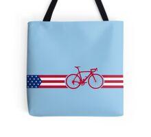 Bike Stripes USA v2 Tote Bag