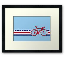 Bike Stripes USA Framed Print