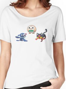 Pokemon Sun and Moon Starters Women's Relaxed Fit T-Shirt