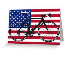 Bike Flag USA (Big - Highlight) Greeting Card