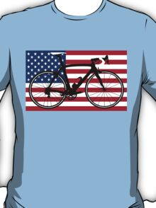 Bike Flag USA (Big - Highlight) T-Shirt