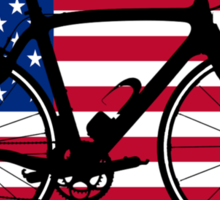 Bike Flag USA (Big - Highlight) Sticker