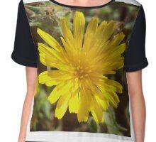 Yellow flower Chiffon Top