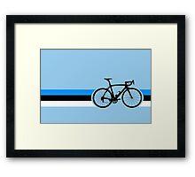 Bike Stripes Estonia Framed Print