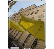 Vienna Street Life - Cheery Yellow Umbrellas at an Outdoor Cafe iPad Case/Skin