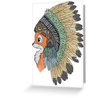 Tribal fox Greeting Card
