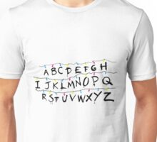 stranger things light alphabet Unisex T-Shirt