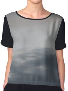 Clouds in Evening Sky Chiffon Top