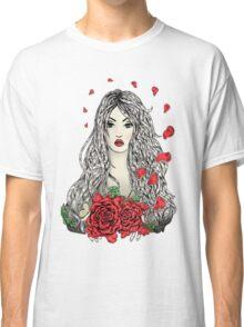 Flying rose petals Classic T-Shirt