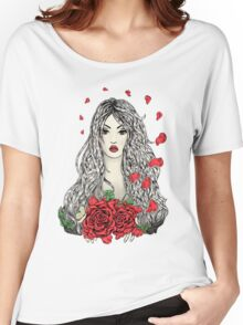 Flying rose petals Women's Relaxed Fit T-Shirt