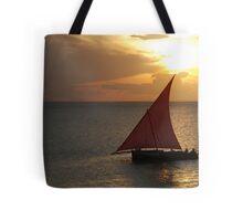 Red Sails in the Zanzibar Sunset, Tanzania Tote Bag