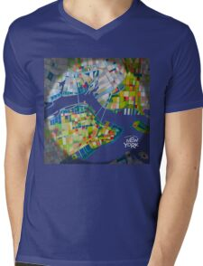 Imaginary map of New York Mens V-Neck T-Shirt