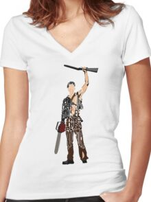 Ash - The Evil Dead Women's Fitted V-Neck T-Shirt
