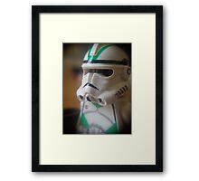 Seige Battalion Clone trooper Framed Print