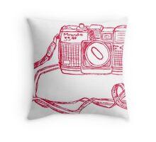Miranda Red Throw Pillow