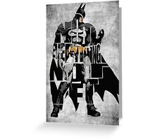 Batman - The Dark Knight Greeting Card