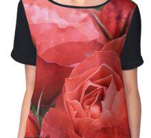 Open Roses Chiffon Top