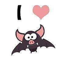 I heart Bats Photographic Print