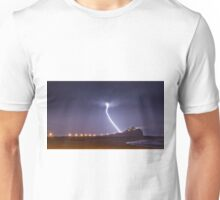 Lightning Storm Nobbys Lighthouse Unisex T-Shirt