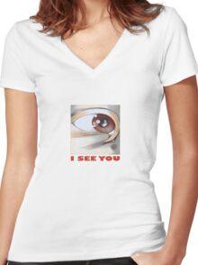 Eye n. 46 Women's Fitted V-Neck T-Shirt
