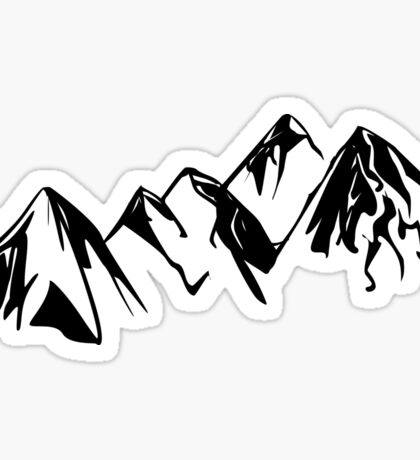 Mountain Outline Sticker