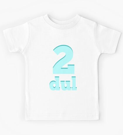 Baby learns Korean - number two blue Kids Tee