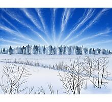 Winter Countryside Field Photographic Print