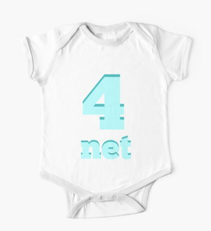 Baby learns Korean - number four blue One Piece - Short Sleeve