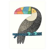 Tucan chilling Art Print