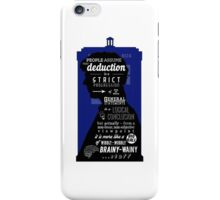 Wholock - A Study in Deduction iPhone Case/Skin