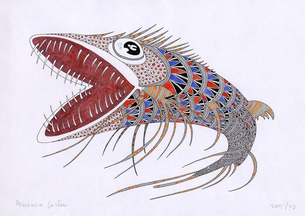 Shark fish  (original sold) by federico cortese
