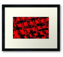 Red and Black  Framed Print