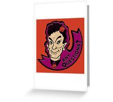 David S. Pumpkins, Any Questions? Greeting Card