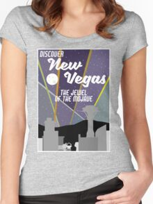 Vintage New Vegas Skyline Women's Fitted Scoop T-Shirt