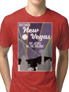 Vintage New Vegas Skyline Tri-blend T-Shirt