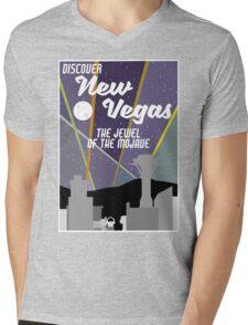 Vintage New Vegas Skyline Mens V-Neck T-Shirt