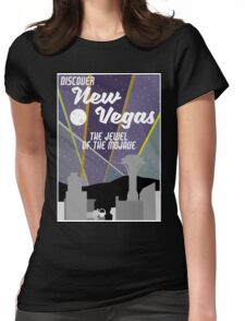 Vintage New Vegas Skyline Womens Fitted T-Shirt