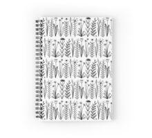 Einfaches Blumenmuster schwarz/weiß Spiral Notebook