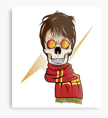Skull Potter Metal Print