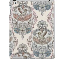 Woodland Birds - hand drawn vintage illustration pattern in neutral colors iPad Case/Skin