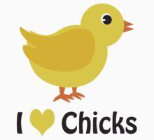 I heart (love) Chicks Kids Clothes