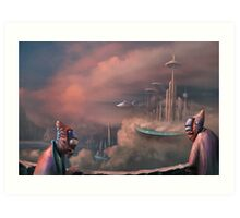 The Skybus is late Art Print