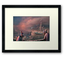 The Skybus is late Framed Print