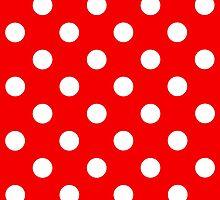 Red & WHite Polka Dot by i Mac