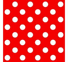 Red & WHite Polka Dot Photographic Print
