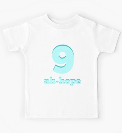 Baby learns Korean - number 9 blue Kids Tee